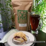 Locally roasted John Joseph Coffee goes well with a scone from Mixing Bowl Bakery