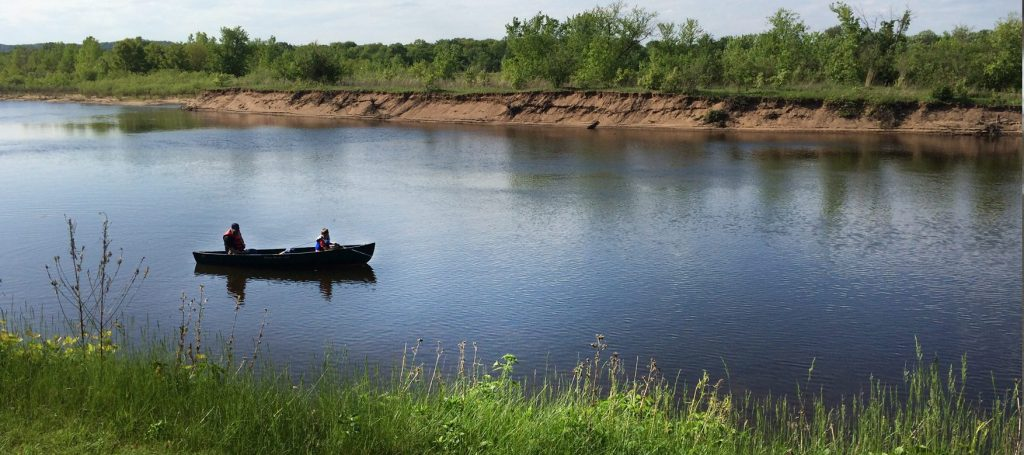 Fishing boat on Wisconsin River