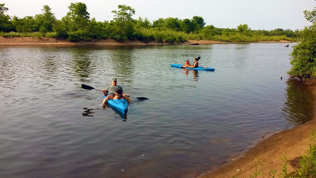 Kayaking on the Wisconsin River