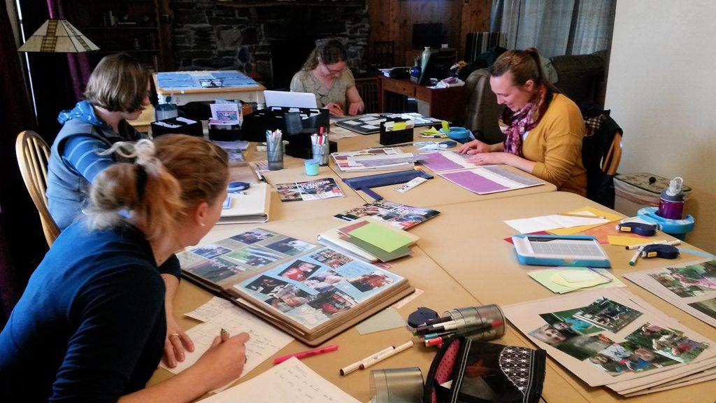Scrapbook Retreat at Wisconsin River Retreat
