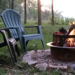 Enjoy a fire sitting in these chairs along the Wisconsin River
